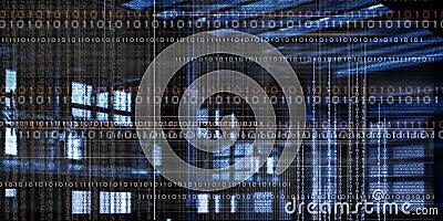 Computer code data Stock Photo