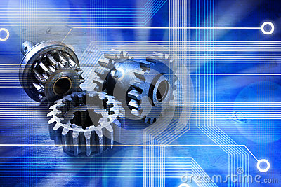 Computer Cogs Technology Background