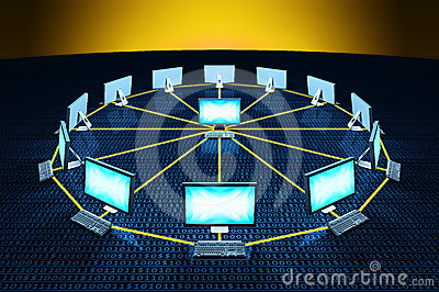 Computer connect network communicating data
