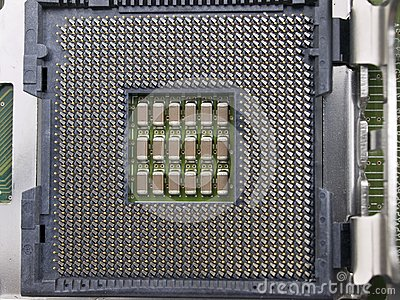 Computer CPU seat on motherboard