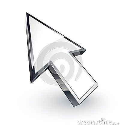 Computer cursor arrow