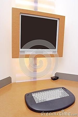 Computer desk in a hotel