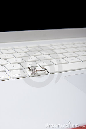 Computer with diamond ring
