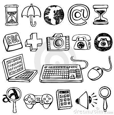 Free Computer Doodles Stock Photos - 11641673
