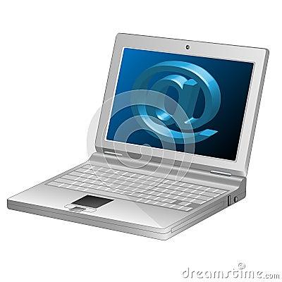 Computer-Email symbol-Laptop-3d