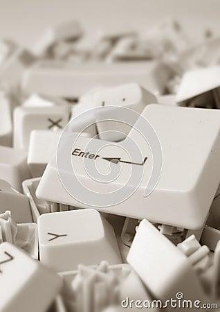 Computer enter key