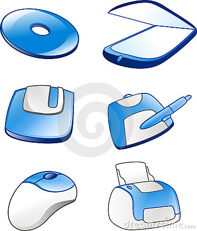 Free Computer Equipment Icons 1 Stock Images - 657244