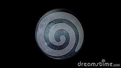 Computer erzeugte Rotation des Planeten Pluto im kosmischen stellaren Raum 3d Darstellung eines abstrakten Hintergrunds stock footage