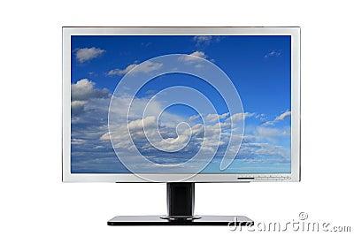 Computer flat wide screen