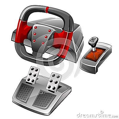 Computer game wheel