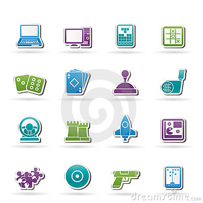 Free Computer Games Tools And Icons Royalty Free Stock Photos - 22326248