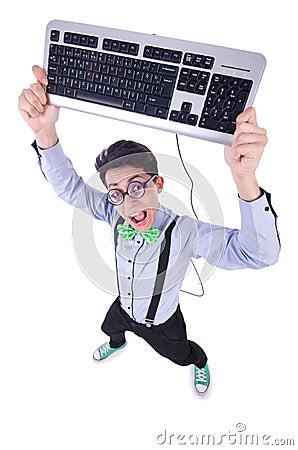 Computer geek nerd