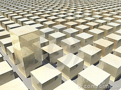 Computer Generated Golden Blocks