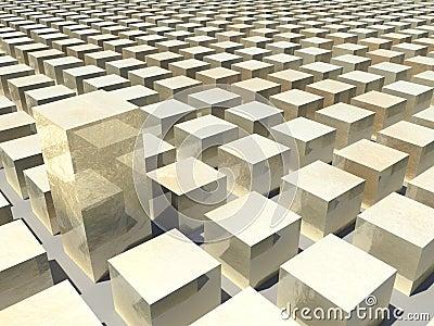 Computer Generated Golden Blocks