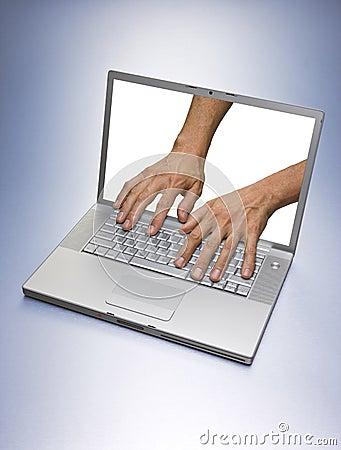 Computer Hacker Hands