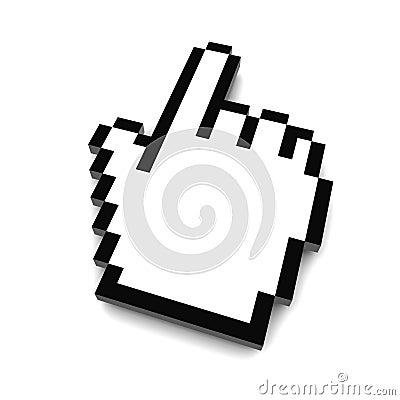 Computer hand cursor 3d