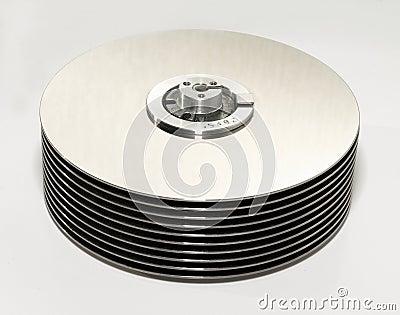 Computer hard disk inside