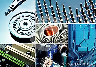 Computer Hardware Collage