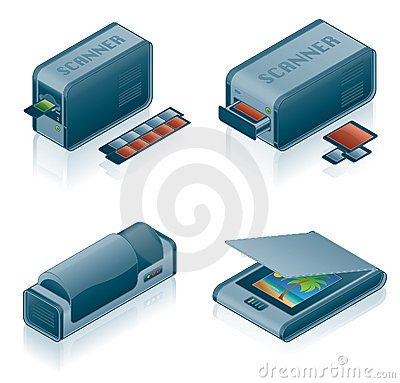 Free Computer Hardware Icons Set Royalty Free Stock Photo - 2063255