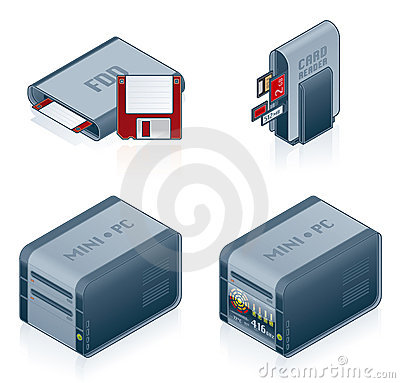 Computer Hardware Icons Set - Design Elements 55c