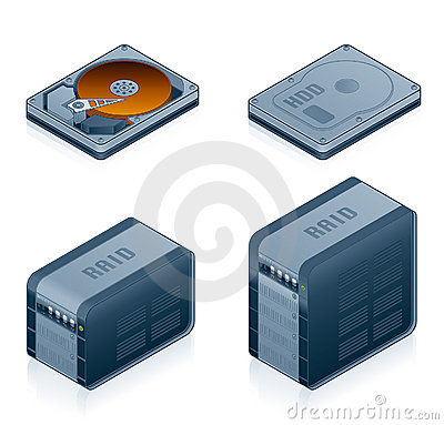 Free Computer Hardware Icons Set - Design Elements 55d Royalty Free Stock Images - 1866039