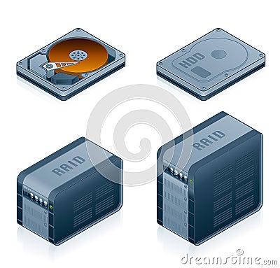 Computer Hardware Icons Set - Design Elements 55d