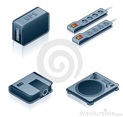 Free Computer Hardware Icons Set - Design Elements 55i Stock Images - 2074644