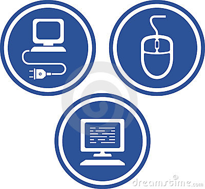 Computer hardware - Vector icons