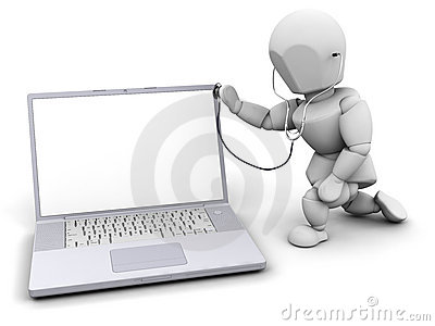 Computer Health Check Royalty Free Stock Photo - Image: 5019385