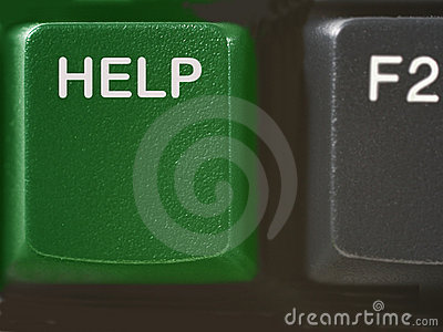 Computer help key in green colors
