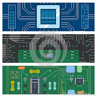 Free Computer IC Chip Template Microchip Brochure Circuit Board Design Abstract Background Vector Illustration. Stock Photography - 103893512