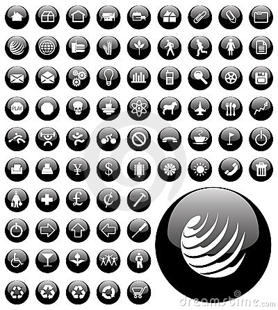 Computer icon buttons