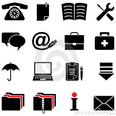Free Computer Icon Set (black And White Colors) Royalty Free Stock Photos - 14794788