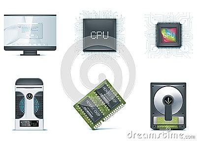 Computer icon set. Part 1
