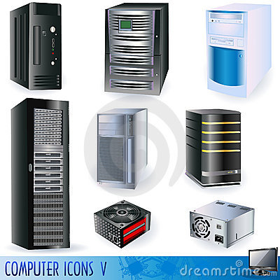 Free Computer Icons 5 Royalty Free Stock Image - 14020096