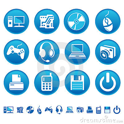 Free Computer Icons Royalty Free Stock Image - 8935286
