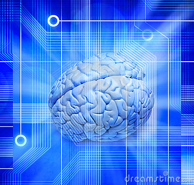 Free Computer Intelligence Brain Technology Chip Science Royalty Free Stock Photos - 12260698