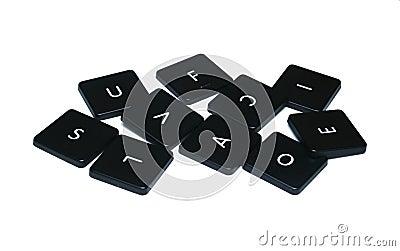Computer Key Assorted Alphabet