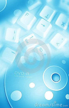 Computer key with DVD