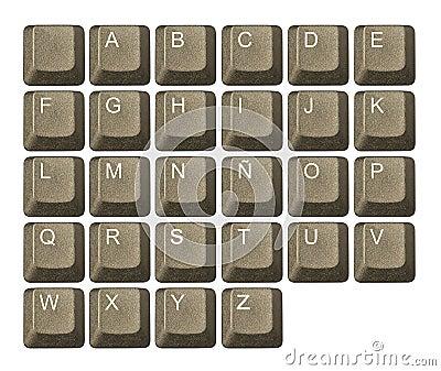 Computer key in a keyboard