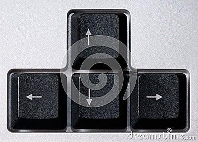 Computer keyboard, arrows zone