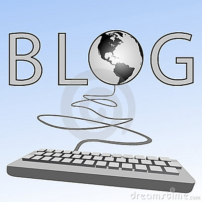 Computer keyboard blogs Earth Blogosphere