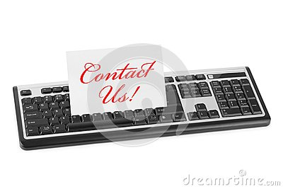 Computer keyboard and card Contact Us
