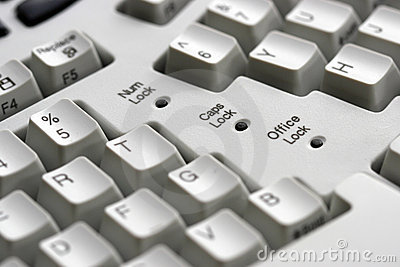 Computer keyboard - close-up