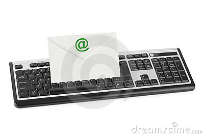 Computer keyboard and e-mail letter