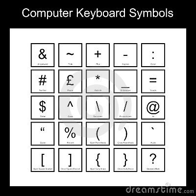 Computer Keyboard Symbols Pictures