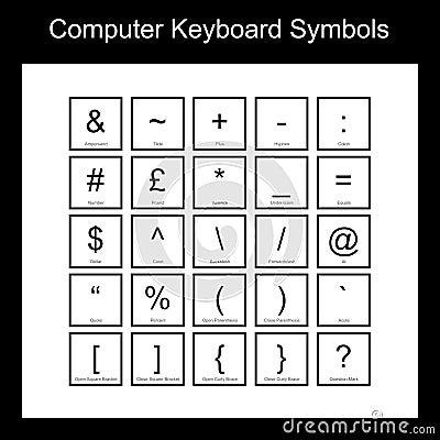 Computer Keyboard Symbols