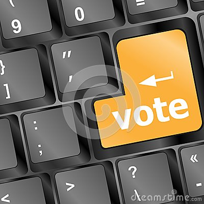 Computer Keyboard With Vote Key, Business Concept Royalty Free Stock Photos - Image: 26726918