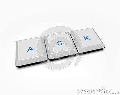 Computer Keys - Ask