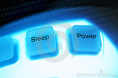 Computer keys sleep and power